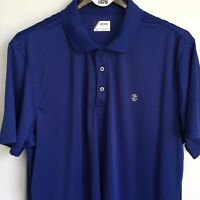 IZOD Golf Polo Shirt Size XXL Blue Short Sleeve Top Moisture Wicking Athletic