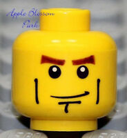 NEW Lego City Police Agents MALE BOY MINIFIG HEAD w/Scowl Smile Grin Chin Dimple