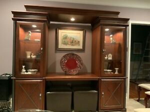Solid Wood Multifunctional TV Desk Display Cabinets (entertainment center)