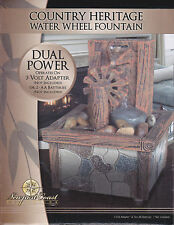 Water Fountain COUNTRY HERITAGE Indoor Feature Calming Table Home Decor NEW