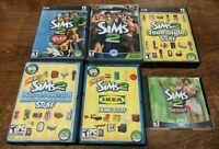 Lot of 6 The Sims 2 II Two Expansion Packs & Stuff IKEA PC With Serial Codes