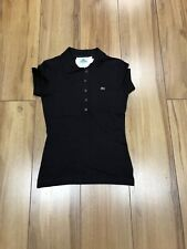 LACOSTE LADIES POLO BROWN SMALL