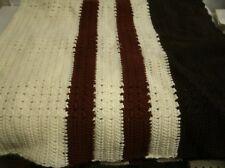 Vintage Hand Crochet Afghan Throw blanket 56x56 RE9)