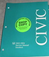 2002 2003 2004 Honda Civic Hatchback Workshop Service Shop Repair Manual OEM