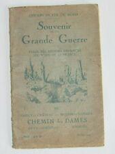 09h19 LIVRET 1919 CHEMIN DE FER DU NORD VISITE DES REGIONS DU CHEMIN DES DAMES