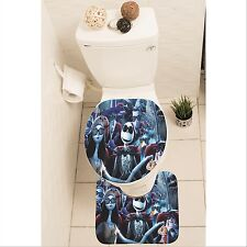 The Nightmare Before Christmas Set of 3 Rug Set Mat Toilet Lid Cover y70 w0038