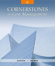 **PDF edition** Cornerstones of Cost Management 4th edition by Don R. Hansen.