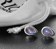 925 Sterling Silver LABRADORITE Teardrop Button Ball Stud Earrings Gift Boxed
