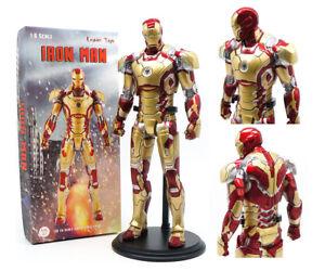 "Marvel Avengers Iron Man 12"" Tony Stark MK42 1/6 PVC Model Crazy Toy Statue Gift"