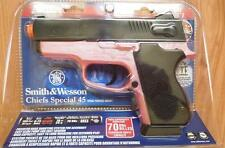 SMITH & WESSON CHIEFS SPECIAL 45 SPRING POWERED PINK/BLACK AIRSOFT GUN 200 FPS