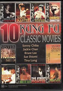 10 Kung Fu Classic Movies - 4 Disc set DVD Region 4