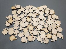 20 x 20mm A9 MDF Apples Laser Cut Embellishments Wooden Craft Shape Wholesale