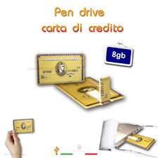 PEN DRIVE USB 8GB CREDIT CARD CARTA DI CREDITO AMERICAN EXPRESS CHIAVETTA FLASH