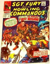 SGT FURY 44 SERGEANT & HIS  HOWLING COMMANDOS 1963 MARVEL RARE F+