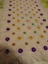 1,10x0,40 original jete de table ,laine surbrodée fait main