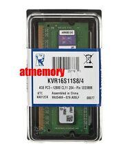 Genuine Kingston 1600Mhz 4GB 4 G GB 12800 DDR3 Ram Laptop KVR16N11/4 Sodimm New