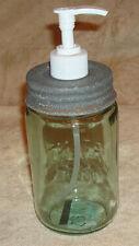 Rustic Country Primitive MASON'S Pint Fruit Canning Jar SOAP LOTION Dispenser