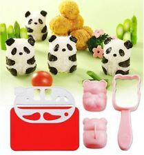 1 Set Panda Easy Onigiri Sushi Roll Maker Cutter Roller Rice Mold Mat sea sedge