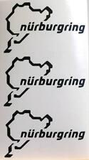 KIT 3 adesivi NURBURGRING decal sticker ritagliato NB pista racing AUTO GERMANY