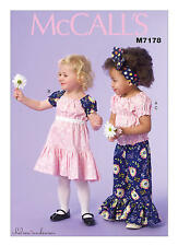 McCall's Sewing Pattern 7178 SZ 4-6 Girls Childs Peasant Top Ruffled Pants Dress