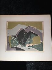 "20th Century Ethan Magafan Abstract Landscape ""Early Spring"" Signed In Pencil"