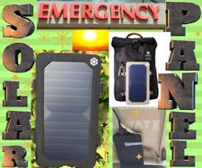solar panel backpack bag usb travel camping charger hiking laptop COLOR BLACK.