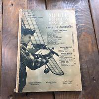 1939 MODEL BUILDERS HANDBOOK 1ST ISSUE NO.1 VOL1 TRAINS PLANES CARS BOATS FAWCET