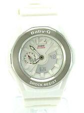 CASIO BABY-G  Analog Digital Display White Dial BGA140-7B White Resin Band