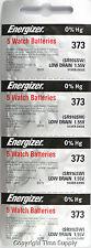 20 pcs 373 Energizer Watch Batteries SR916SW SR916 0% Hg