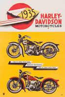 VINTAGE 1929 HARLEY DAVIDSON MOTORCYCLE AD POSTER PRINT 24x16 9 MIL PAPER