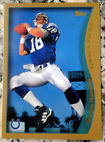PEYTON MANNING 2012 Topps Reprint 1998 Rookie Card RC 2 Superbowl Rings HOF MVP