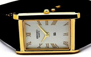 Seiko Quartz Men's Super Slim Gold Plated Excellent Watch working Order