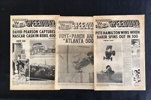 1966 to 1970 VINTAGE ILLUSTRATED SPEEDWAY NEWS ~ 400+ pages ~ NASCAR ~ INDY 500