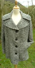 L K Bennett Black & White Tweed Coat / Jacket size 18