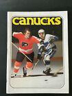 1978 Vancouver Canucks VS Philadelphia Flyers Hockey Program Vtg Bobby Clarke