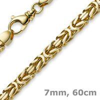 7mm Königskette aus 585 Gold Gelbgold Kette Halskette 60cm Herren, Goldkette