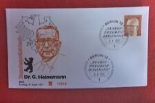GERMAN 1971 ORANGE  FIRST DAY COVER 40 STAMP DR GUSTAV HEINEMAN