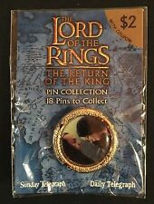 LORD OF THE RINGS - ARWEN & ELROND - DAILY TELEGRAPH - SEALED - PIN - BADGE