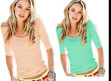 Damen Bluse Sommer Damen Shirt kurzarm Bluse Rundhalsausschnitt (173)