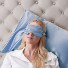 Jasmine Silk Pure Silk Filled Sleep Eye Mask Sleeping Blindfold Blue