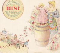 Pillsbury 1880's Flour Minneapolis Columbia Chinese Russia Patriotic Trade Card