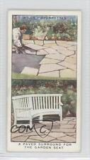 1938 Wills Hints Tobacco Base #2 A Paved Surround for the Garden Seat Card 1s8