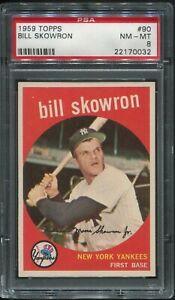 #90 BILL SKOWRON, Yankees: 1959 Topps: PSA NM-MT 8, Great Centering (22170032)