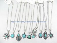 10 pieces turquoise pendant necklaces wholesale gemstone jewelry lot