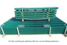 Doppelstab Mattenzaun Komplett-Set / Grün / 203cm hoch / 10m lang