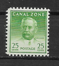 CANAL ZONE , US , 1946/49 , WALLACE , 25c STAMP  , PERF , MNH