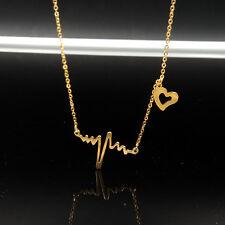 EKG HEARTBEAT NECKLACE Electrocardiogram Heart Rhythm Science Nerd ECG 10PCS