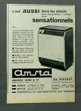 PUB PUBLICITE ANCIENNE ADVERT CLIPPING 290419 POELE AMSTA AU MAZOUT SENSATIONNEL