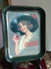 "Coca Cola Tray 11"" X 13 - 1912 Hamilton King Girl"