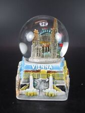 Vienna St Stephen NEVE lucido base Snowglobe 9 cm, negozio di SOUVENIR AUSTRIA